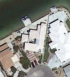 The Ironsides House, from the sky, via Google Maps